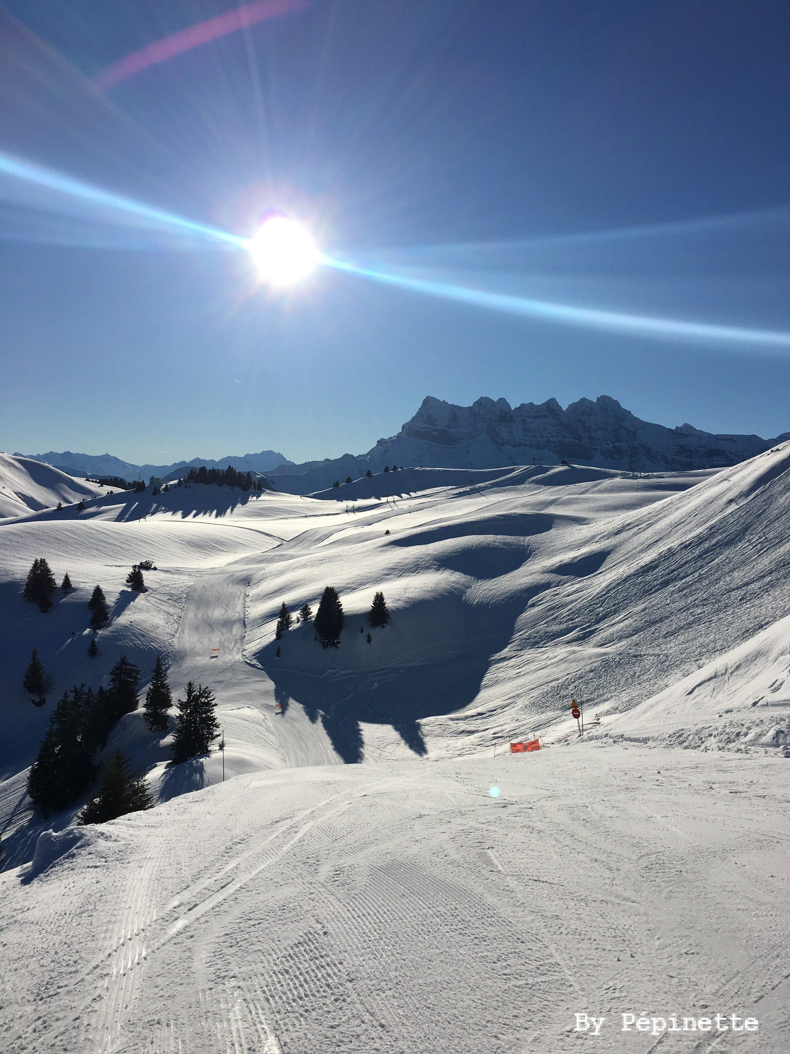 Skier au coeur de l'Espace Liberté Châtel